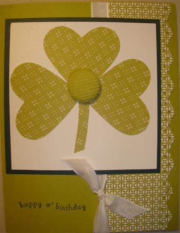 Day cards, you can always make a cute birthday card using shamrocks!